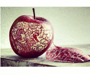 apple, art, and red image