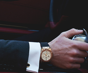 watch, car, and man image