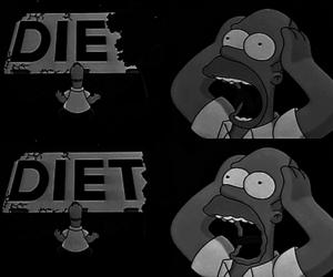 die, diet, and homer image