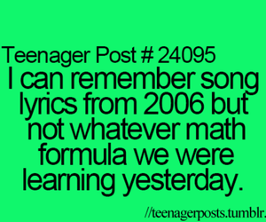 teenager post, true, and math image