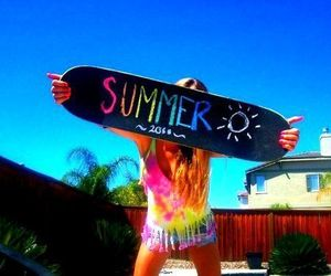 summer, girl, and sun image