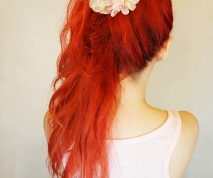 hair and red image