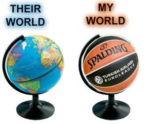 Basketball and world image