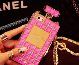 chanel, case, and pink image