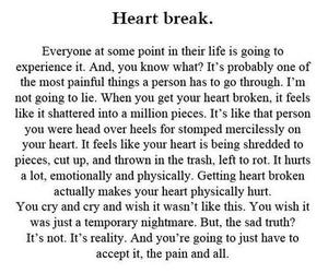 heartbreak, quotes, and heart break image