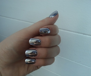 nails, pale, and silver image