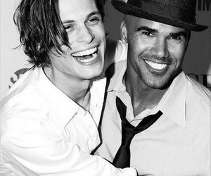 criminal minds, shemar moore, and matthew gray gubler image