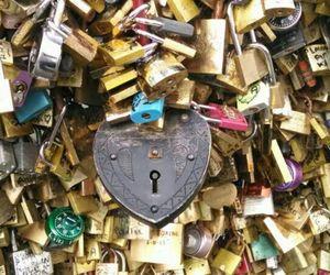beautiful, lock, and gold image