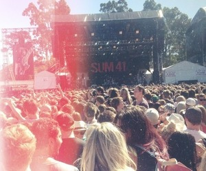 sum 41, concert, and music image