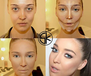 make up, contouring, and beauty image