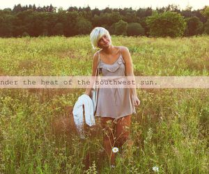 girl, nature, and text image