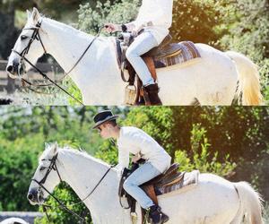 justin bieber, horse, and justin image