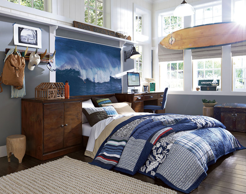 Teenage Guys Bedroom Ideas Hawaiian Inspired Bedding