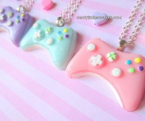 kawaii, controller, and necklace image