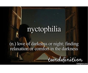 night, nyctophilia, and Darkness image