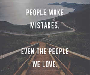 love, mistakes, and quote image