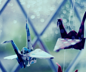 origami, crane, and photography image