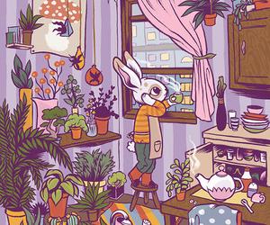 apartment, art, and illustration image