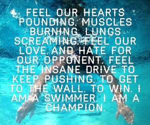 champion and swimmer image