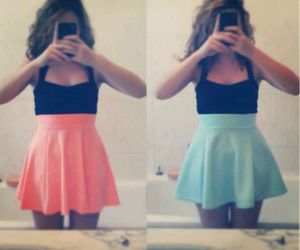 dress, orange, and outfit image