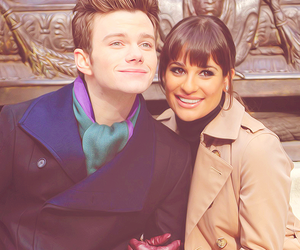 lea michele and chris colfer image