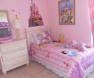 room, pink, and disney image