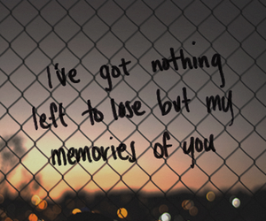 quote, lose, and memories image
