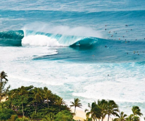 beach, surf, and waves image