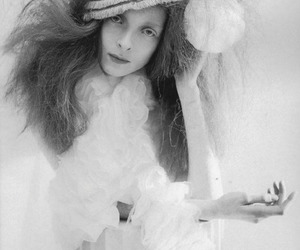 avant garde, black and white, and hat image