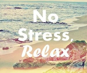 relax, beach, and stress image