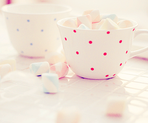 cup, marshmallow, and pink image