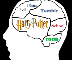 brain, tumblr, and harry potter image