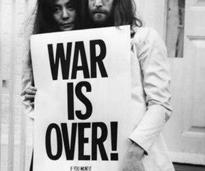 war is over, yoko, and lenon image