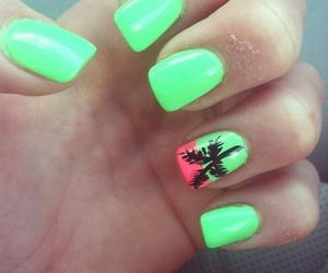 nails, green, and summer image