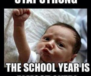 school, baby, and summer image