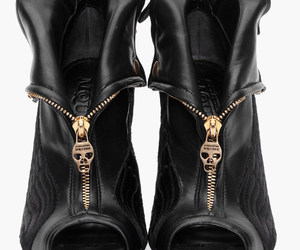 shoes, black, and skull image