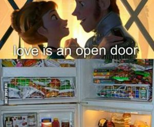 love, food, and frozen image