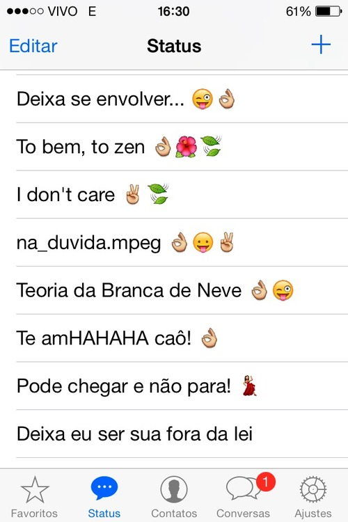 Ironia Do Whatsapp Via Tumblr On We Heart It