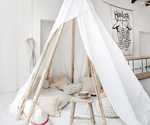 white, tent, and home image