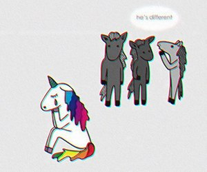 unicorn, different, and horse image