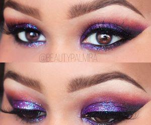 beauty, makeup, and glitter image