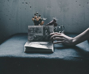 book, dark, and grunge image