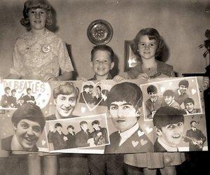 fans, george harrison, and john lennon image