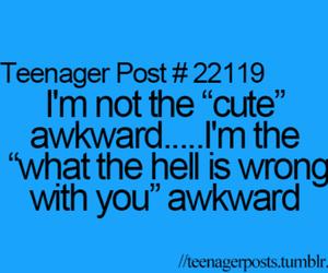 awkward and teenager post image