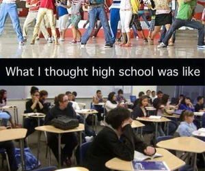 high school, school, and funny image