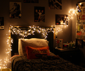 bedroom and lights image