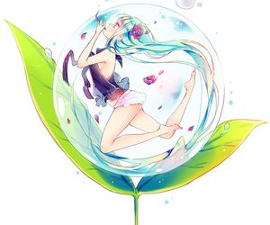anime, bubbles, and anime girl image