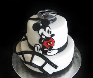 cake, movie, and mickey image