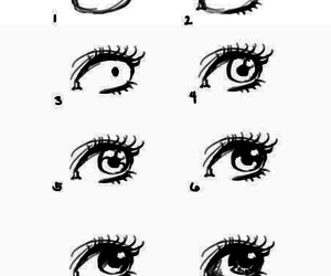 drawing, eyes, and diy image
