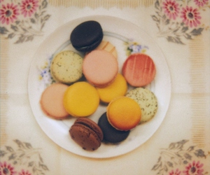 macaroons, macarons, and vintage image